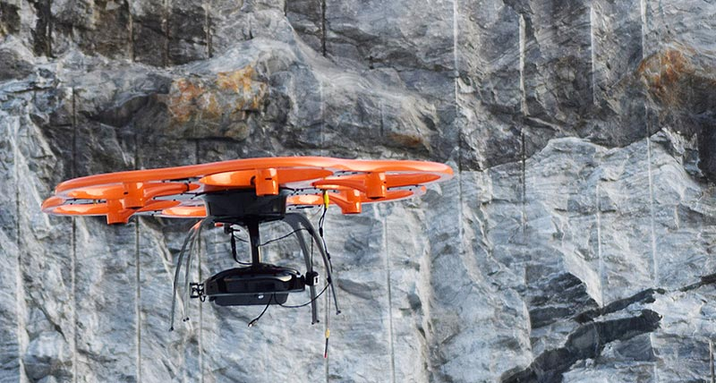 Aibot X6 UAV collects imagery for tracking costs and documenting progress of public roads project in Norway