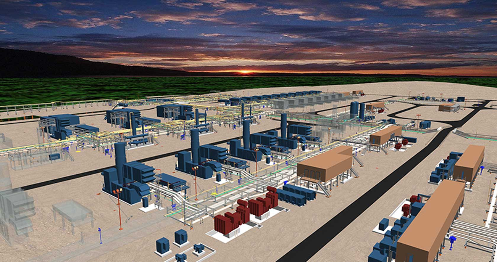 Santos GLNG achieves inhouse design replication with Intergraph design tools